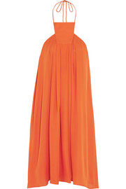 Eres Maracaibo silk-crepe georgette halterneck dress