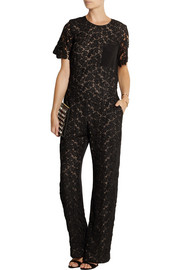 Erdem Abel lace and silk-blend crepe jumpsuit