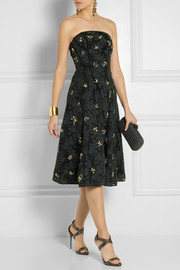 Erdem Rayna crystal-embellished fil coupé dress