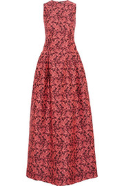 Erdem Bayleigh floral-jacquard gown