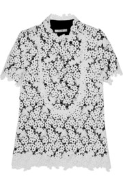 Erdem Deacon embroidered lace top