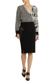 Emanuel Ungaro Wrap-effect printed silk top
