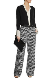 Emanuel Ungaro Patterned stretch-knit wide-leg pants