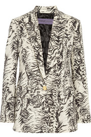 Emanuel Ungaro Animal-print wool-blend blazer