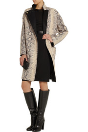 Emanuel Ungaro Snake-effect leather coat