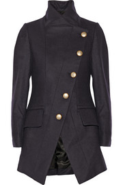 Vivienne Westwood Anglomania State asymmetric wool-blend coat
