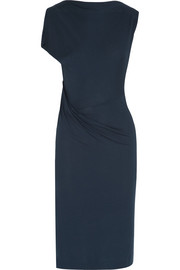 Tusk ruched stretch-jersey dress