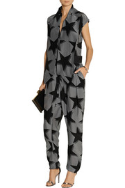 Vivienne Westwood Anglomania Discovery printed crepe de chine jumpsuit