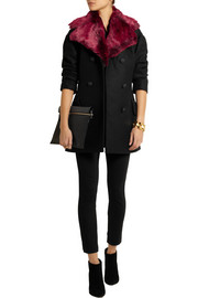 Vivienne Westwood Anglomania Risk faux fur and wool-blend felt peacoat