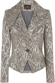 Whisper metallic snake-jacquard jacket