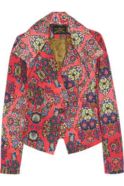 Vivienne Westwood Anglomania Whisper printed stretch-cotton jacket