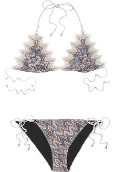 MissoniCappadocia knitted scalloped bikini