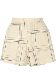Vivienne Westwood Anglomania Terrain checked wool-blend shorts