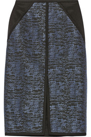 Jonathan Simkhai Cotton-blend jacquard pencil skirt