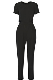 Cutout stretch-crepe jumpsuit