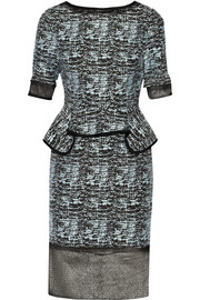 Jonathan Simkhai Cotton-blend jacquard peplum dress