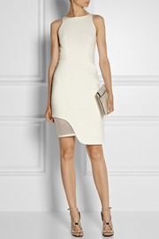 Jonathan Simkhai Mesh-trimmed stretch-ponte dress