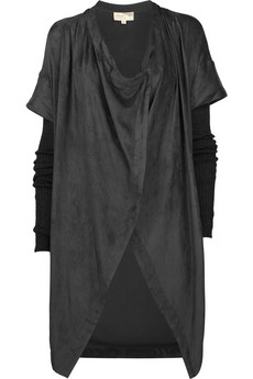 Elizabeth and James Olivia Poncho drape-front coat