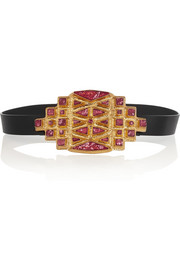 Vionnet Embellished leather waist belt
