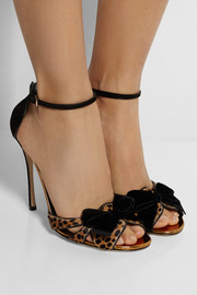 Sergio Rossi Leopard-print calf hair and velvet sandals