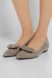 Lanvin Patent-leather point-toe flats