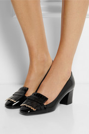 Lanvin Fringed patent-leather pumps