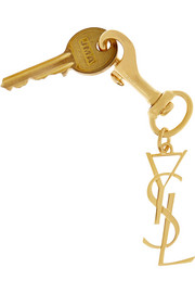 Saint Laurent Gold-tone keychain