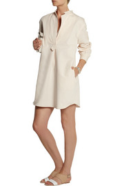 Atlantique Ascoli Smoking cotton and linen-blend shirt dress
