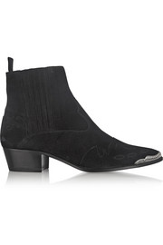 Saint Laurent Duckies suede ankle boots