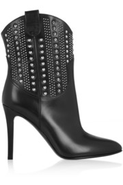 Debbie studded leather ankle boots