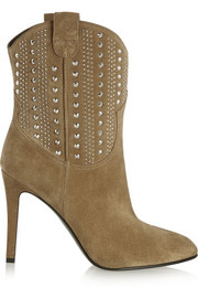 Saint Laurent Debbie studded suede ankle boots