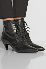 Saint Laurent Cat brogue-style leather ankle boots