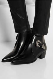 Saint Laurent Duckies leather ankle boots