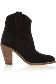 Saint Laurent New Western suede ankle boots