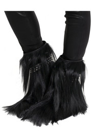 Saint Laurent Patti studded goat hair ankle boots