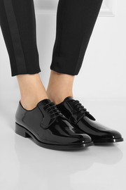Saint Laurent Université patent-leather brogues