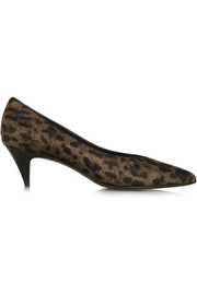 Saint Laurent Leopard-print calf hair pumps