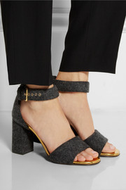 Marni Leather-trimmed felt sandals