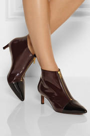 Marni Two-tone glossed-leather ankle boots