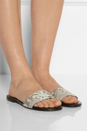 NewbarK Roma snake-effect leather sandals