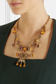 Dolce & Gabbana Gold-plated Swarovski crystal necklace
