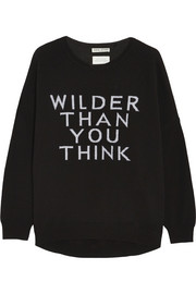 Wilder Than You Think merino wool-blend sweater
