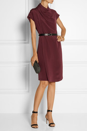 Derek Lam Belted wrap-effect silk dress