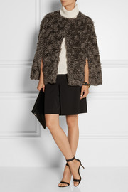 Derek Lam Mohair and cotton-blend cape