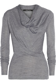 Derek Lam Draped cashmere and silk-blend sweater