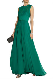 Elie Saab Stretch silk-blend chiffon gown