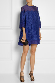 Elie Saab Lace and organza mini dress
