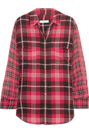 Equipment Signature plaid-print washed-silk shirt