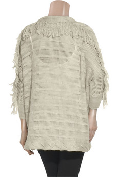 Rebecca Taylor Fringed wool-blend cardigan