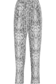 Hadley printed silk tapered pants